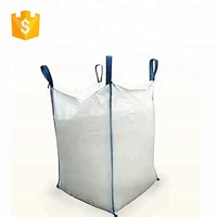 Lowest Price 4 stevedore straps 1 ton PP woven bulk sand bag with release spout