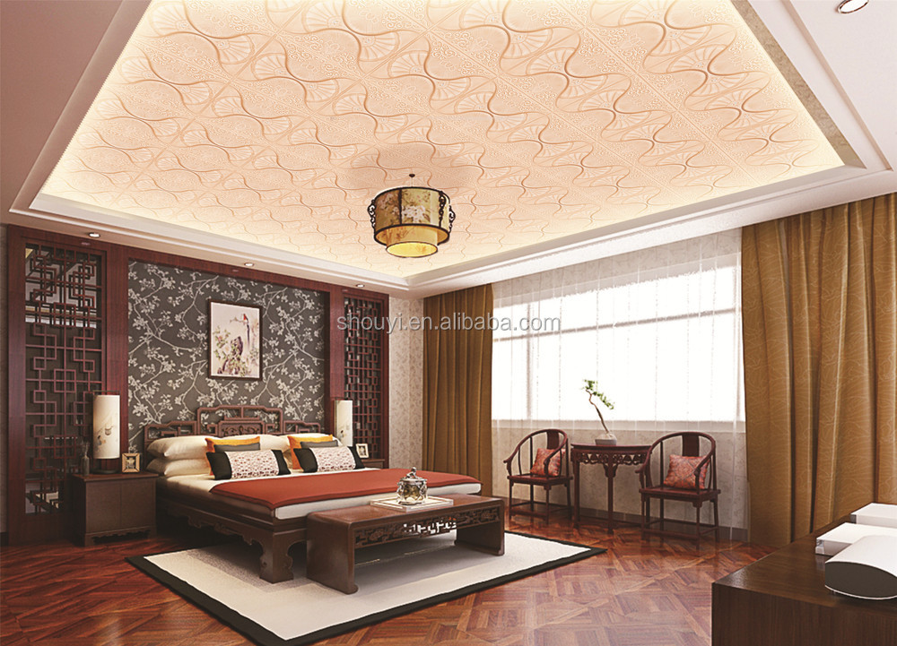 3d leather wall panels interior decorative ceiling paper for 3d ceiling paper
