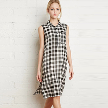 Tartan Plaid Popover Dress For Casual Girls