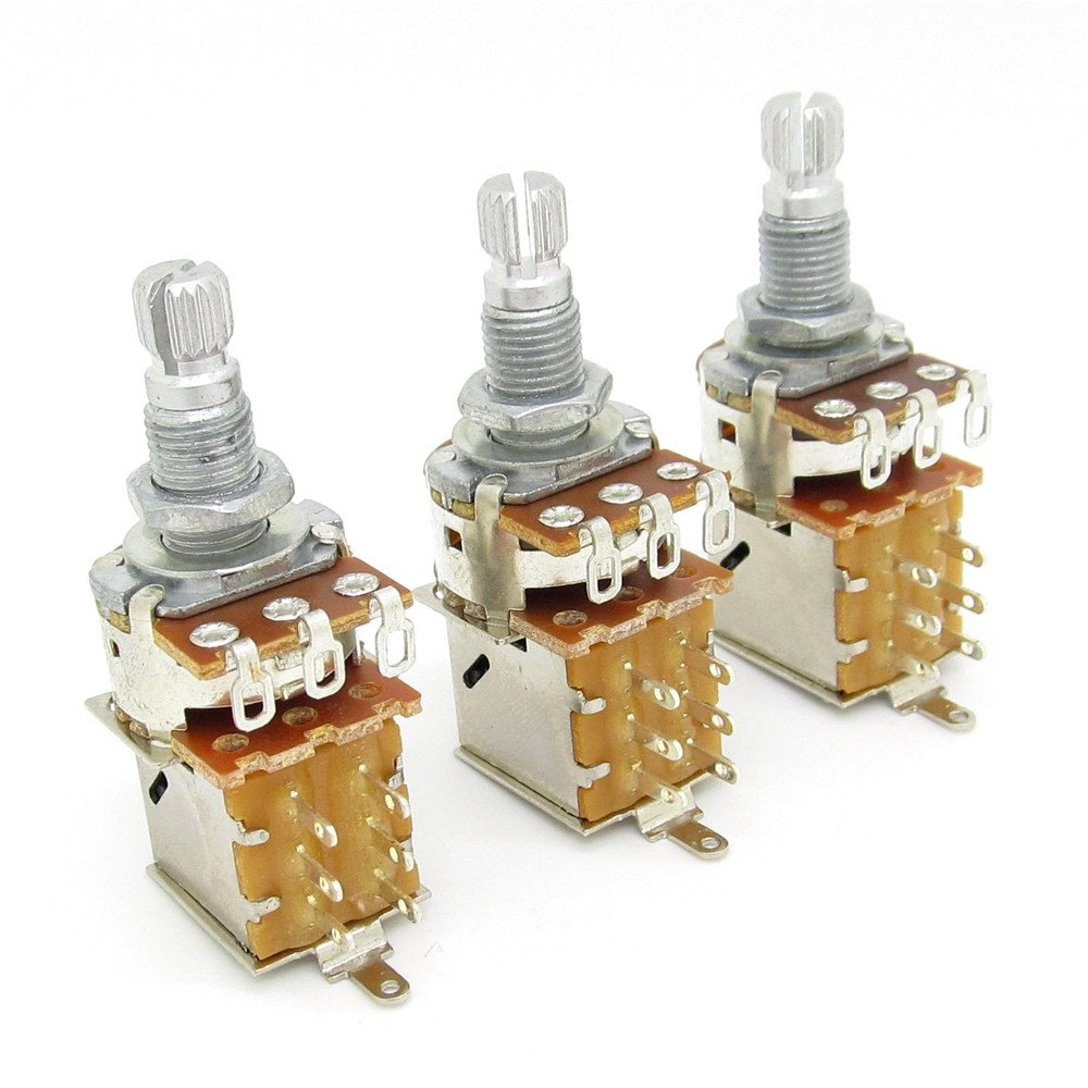 Cheap Volume Switch 500k Find Deals On Line At Included 1 X Wiring Harness Prewired With Pots For Strat Guitar Get Quotations A500k Push Pull Potentionmeter Tone Shaft 18mm Bass Pack Of 3