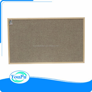 900*1200mm Best price for wooden frame linen notice board
