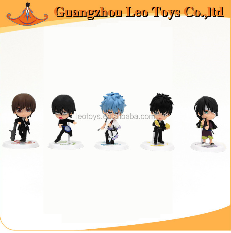Wholesale Small Figurines Famous Japanese Cartoon Character A Set of PVC Gintama Figure Christmas Decoration And Cake Decoration