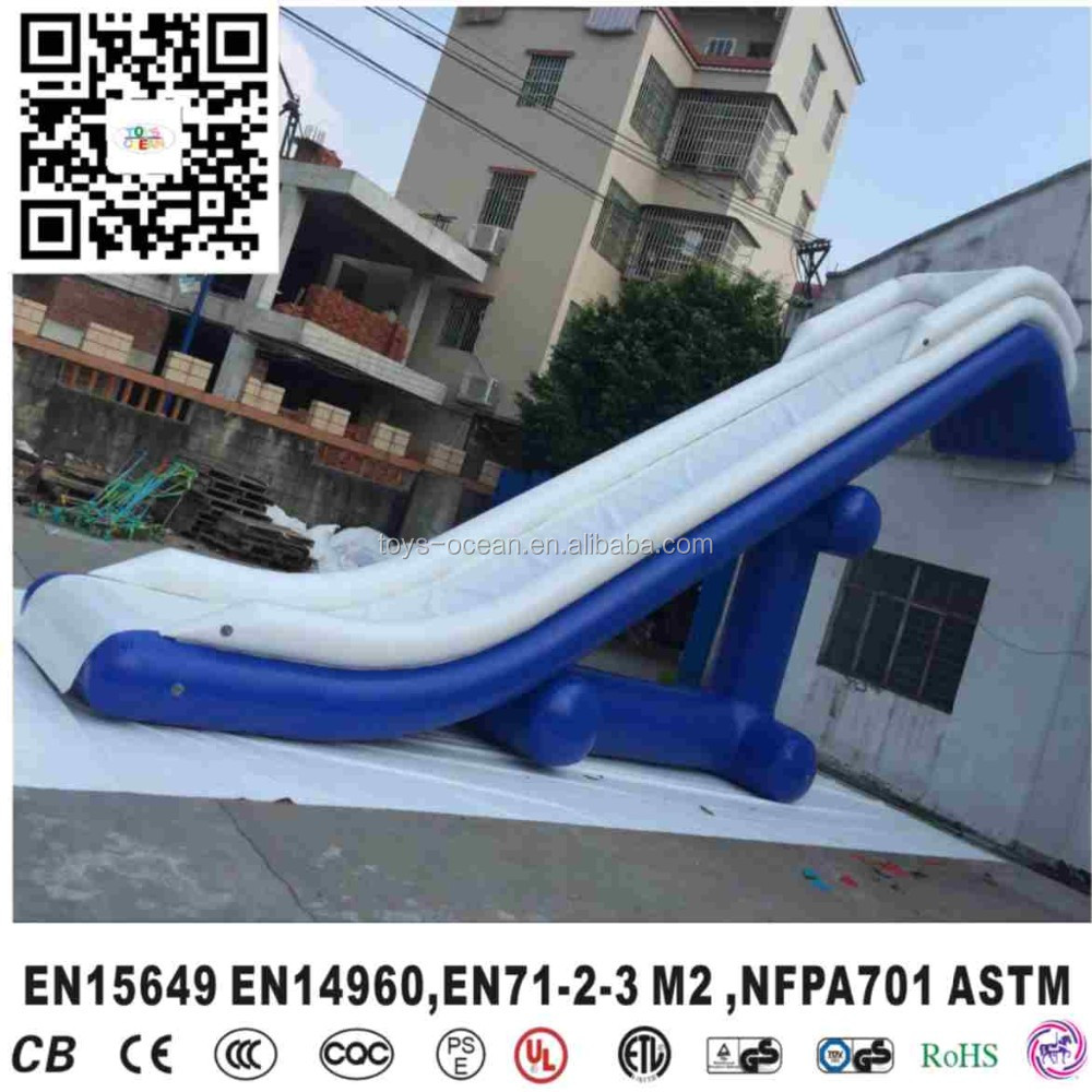 Inflatable Floating Water Slide For Boat Inflatable Yacht