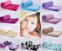 Wholesale Ultra Soft 100% Polyester Newborn Coral Fleece Baby Blanket