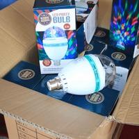LED Stage DJ Lamp Light Auto Rotating Bulb Housing Lights, 3W AC 85-265V E27 RGB Stage Lighting Bulbs