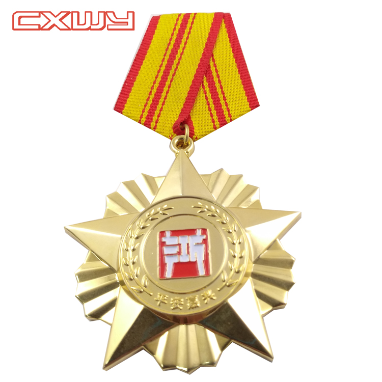 Custom top quality metal firefighter badge