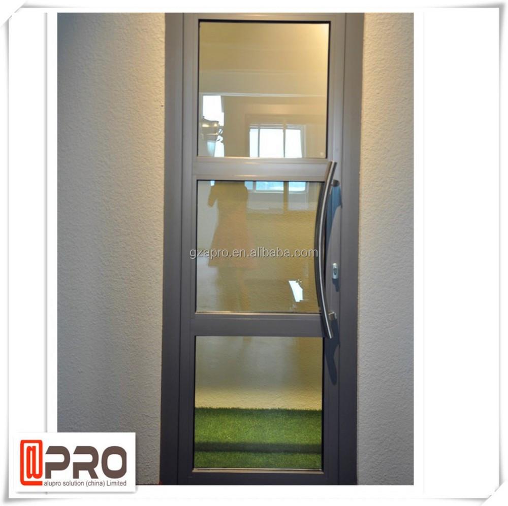Moderno moda decorativo de vidro temperado loja porta da for Colores de aluminio para ventanas en mexico