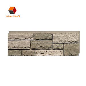 plastic artificial brick faux wall stone look PU panels