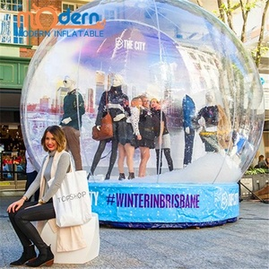 Outdoors Christmas PVC Exhibition Snow Globes Photo Booth