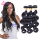 "Grade 8A Mongolian Body Wave Virgin Human Hair Extensions Natural Black Hair Weave Bundles 8~28""inch Thick And Soft 3Pcs Lot"