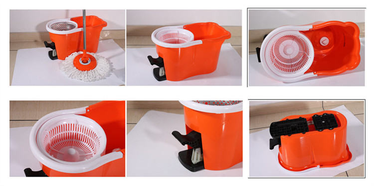 Dust cleaning professional thick bucket 360 automatic magic mops as seen on TV