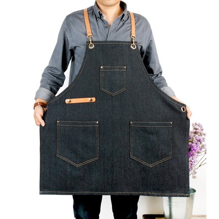 Kitchen adult cooking apron waterproof oil-proof bib smock Korean version of fashion