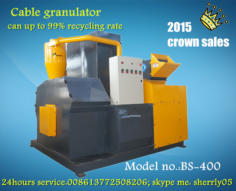 Bsgh Dry Separation Scrap Copper Wire Cable Recycling Granulator And ...