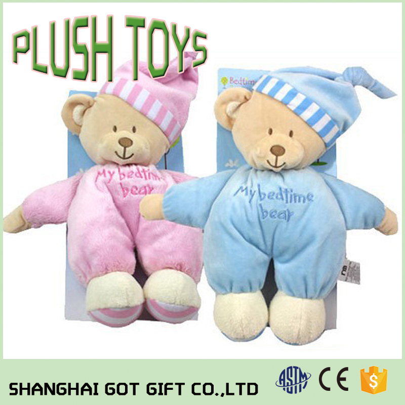 High Quality Promotional Gifts For Kids Sleeping Plush Bear Toys