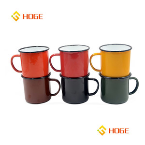 Personalised Classical Customized Enamel Mug Outdoor Camping Drink Cup Set