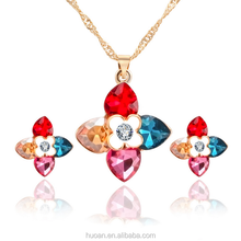 Europe and the new Clover Crystal Necklace Jewelry Sets earrings jewelry female ensemble