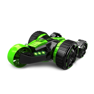 360 Rotate double roll Five Wheel Flip Stunt RC Car with LED Light