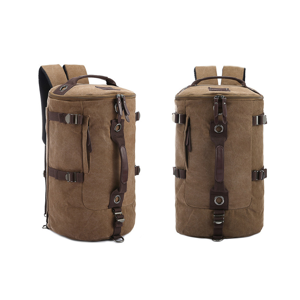 Canvas Barrel Mountaineering Bag,Cotton Mountain Back Pack Bag ...