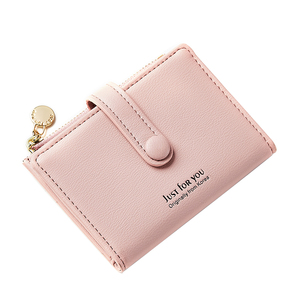 THE NEW ARRIVAL 2018 WOMEN'S PURSE IS A STYLISH MINI CLASP WITH A SMALL CARD BAG AND A THIN MULTI-CARD POSITION