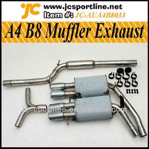 304 Steel A4 B8 Muffler Exhaust For Audi A4 B8