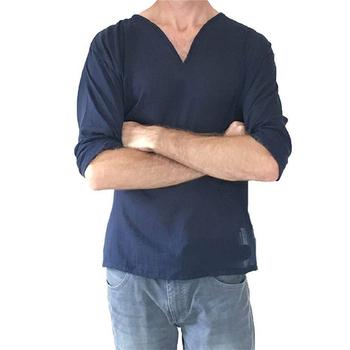 begehrte Auswahl an modische Muster Online-Verkauf Mann Hippie Leinen T-shirt V-ausschnitt Shirts Baumwolle Langarm Strand  Yoga Top T-shirt T - Buy Leinen T-shirt,Leinen Shirts Mann,Sommer Top  Product ...