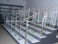 2012 stainless steel glass stairs and handrai fittings