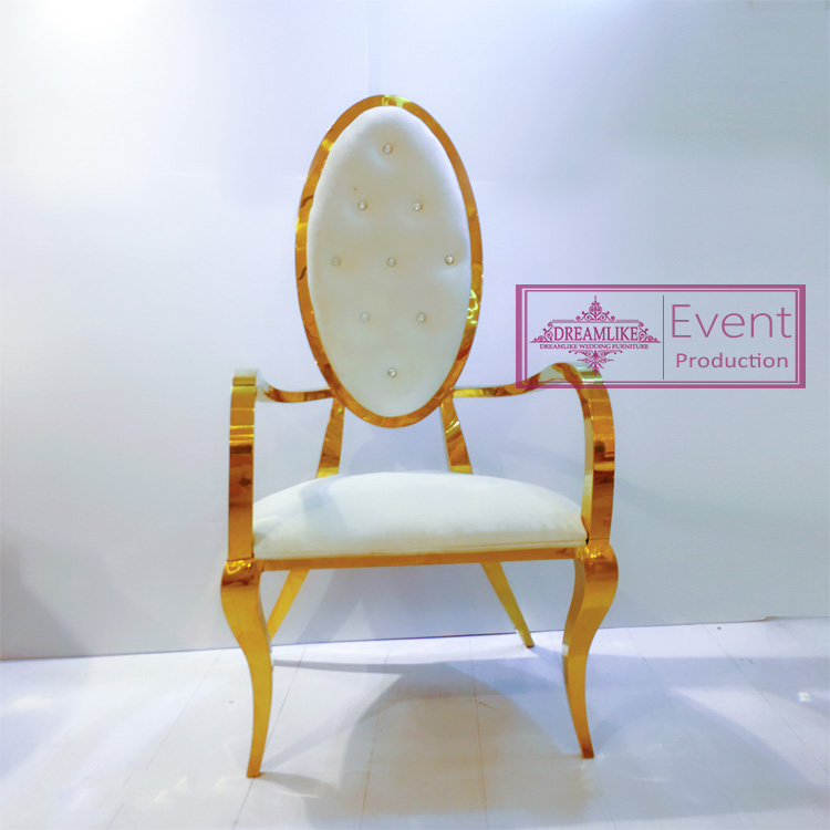 Good quality and new product events banquet stainless steel wedding chair  with PU leather