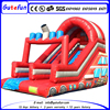 Custom school used fire truck theme inflatable water slide small for kids