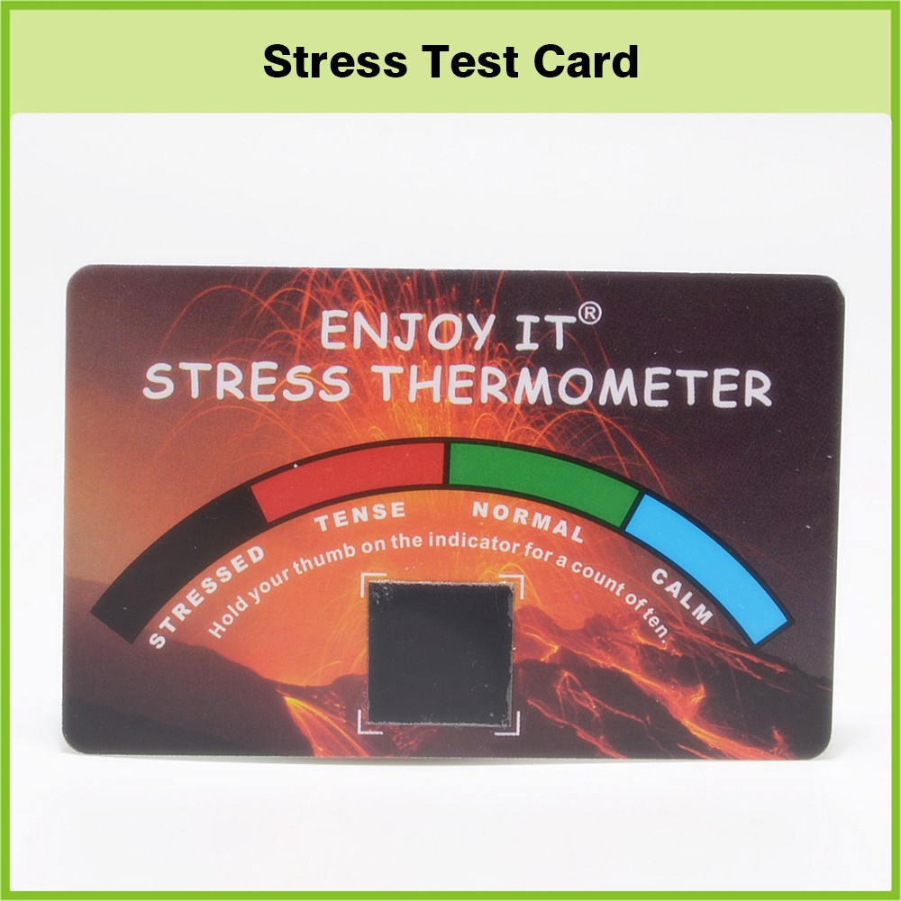 Stress Test Business: Promotional Pvc Business Card Stress Thermometer