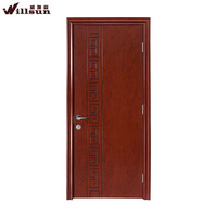 Modern Design walnut wood veneer interior door