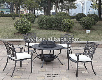 Charcoal Grill Table/foshan Chair Bronze Color/foshan Shunde Furniture Cast  Aluminum