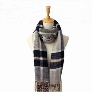 100% Acrylic Women Woven Winter Infinity Neck Scarf