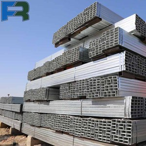 Galvanized Steel Tubing for Carports Weight of GI Square Steel Pipe