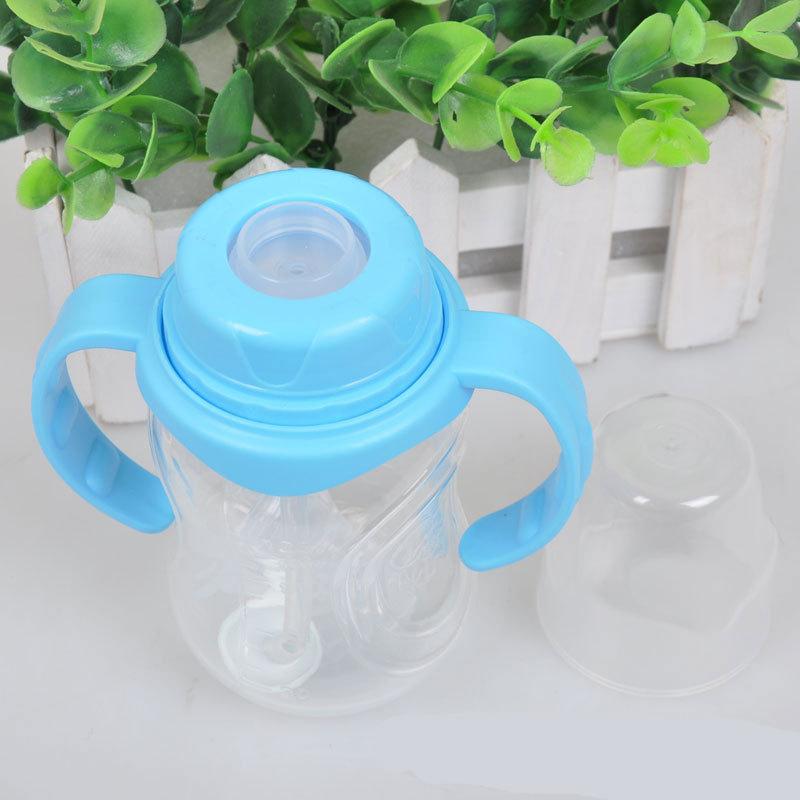 130 мл безопасно BPA бесплатно п . п . материальный уровень кормление бутылки с ручкой стенд калибр груди рожок бутылки молока
