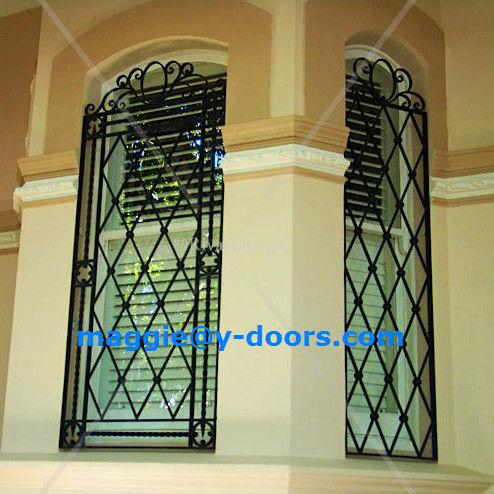 French decorative design iron house windows grill model in for Fancy window design
