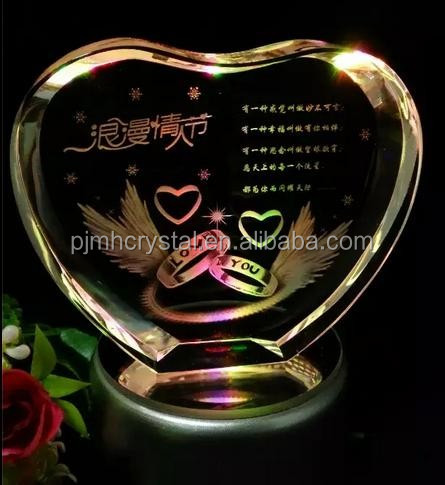3d Laser Etched Glass Cube Crystal 3d Laser Cube/crystal Valentine ...