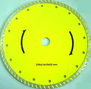 ROBTEC Hot Pressed Segmented Saw Blade 230mm Diamond Cutting Disc, Cutting and Chamfering Diamond Disc Saw Blade