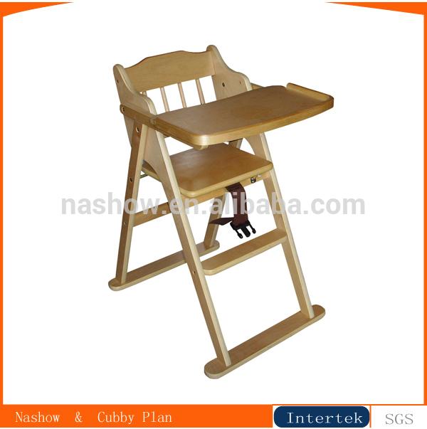 El beb de madera silla alta sillitas para bebes for Silla bebe 6 meses
