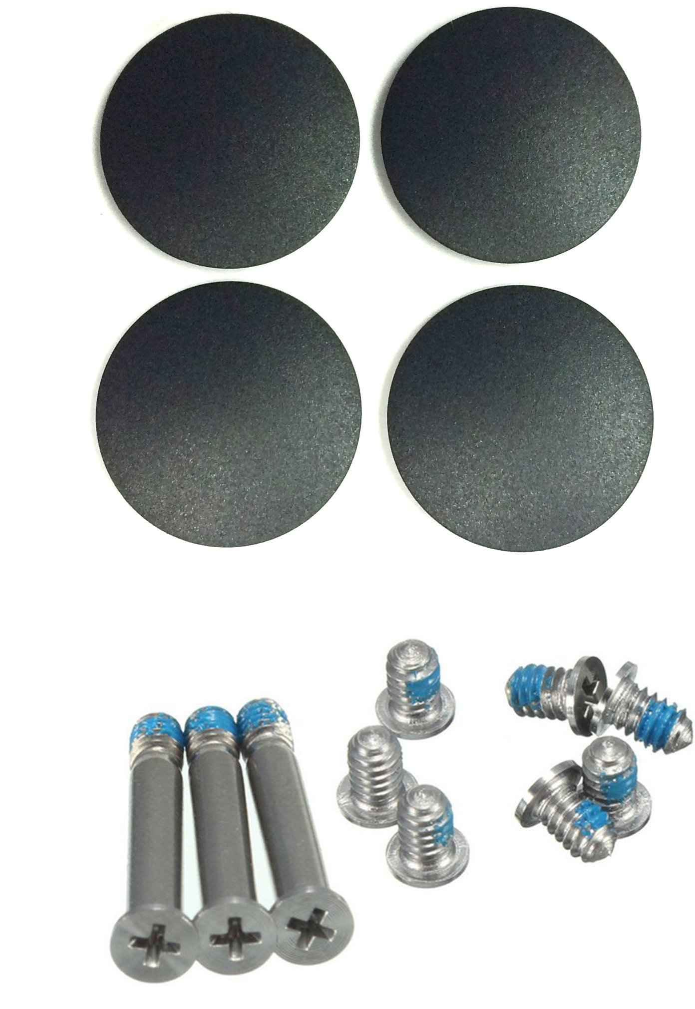 """ITTECC Repair Replacement Screws For Unibody Apple Macbook Pro A1278 A1286 13"""" 15"""" 17"""" 1 Sets of 10, 4 x Rubber Case Foot Feet For Macbook Pro A1278 A1286 A1297 2009 2010"""