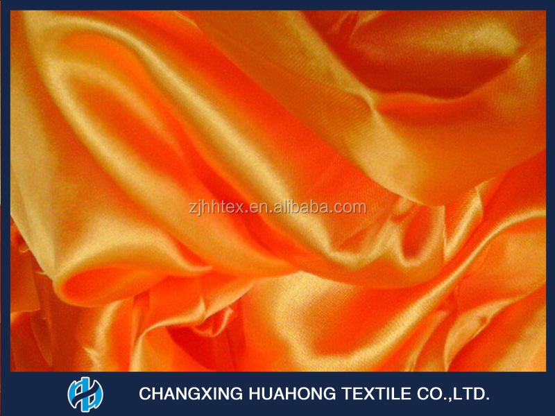 Excellent quality against comeptitive price 2016 100% Polyester fabric satin silk for curtain textile from china manufacturer