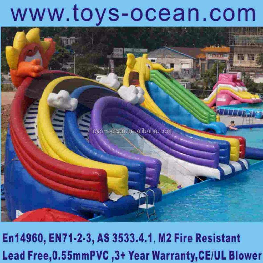 ... Inflatable Inground Pool Slide