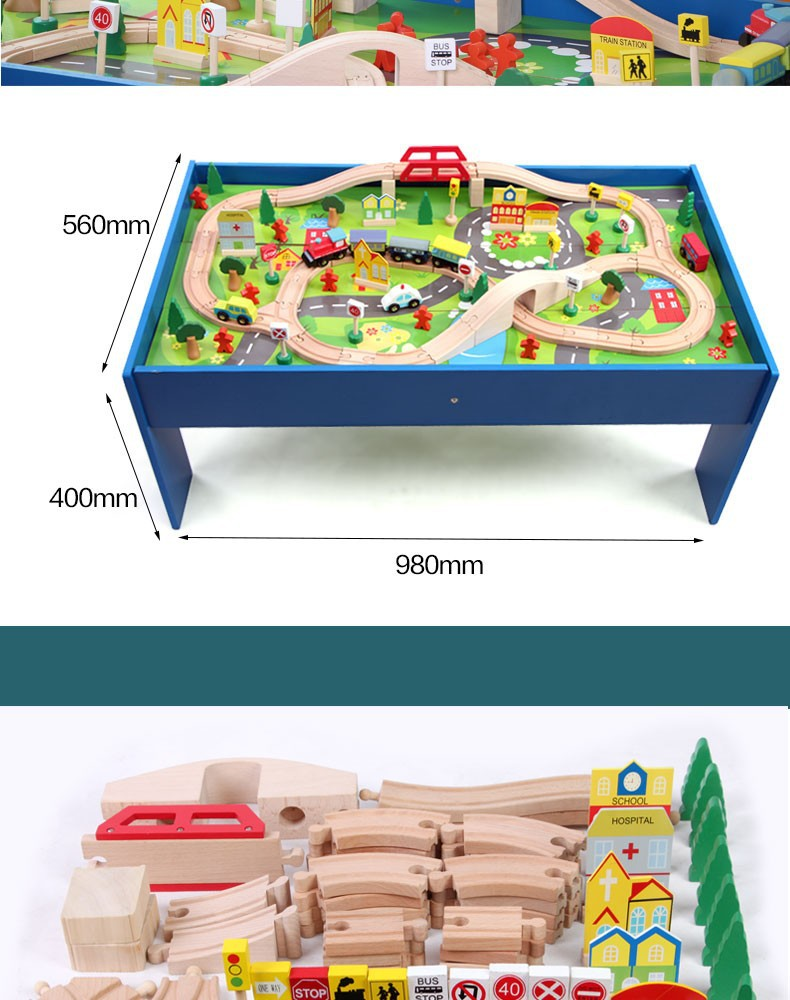 children toys new s style wooden toy Train tracks set with table 2019, View  wood table train Tracks sets toys, onshine Product Details from Guangzhou
