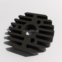 SiC silicon carbide high hardness black ceramic heat sinks