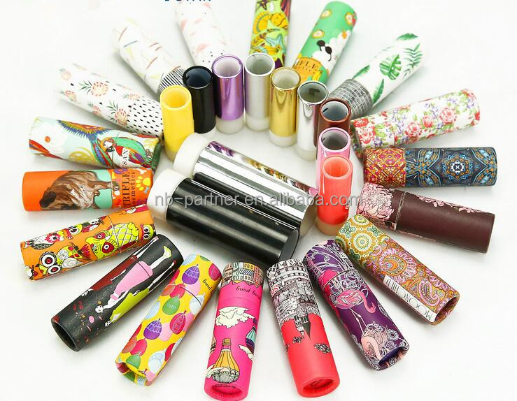Customized Design Chapstick Paper Tube recycled paper lipstick tube with custom logo