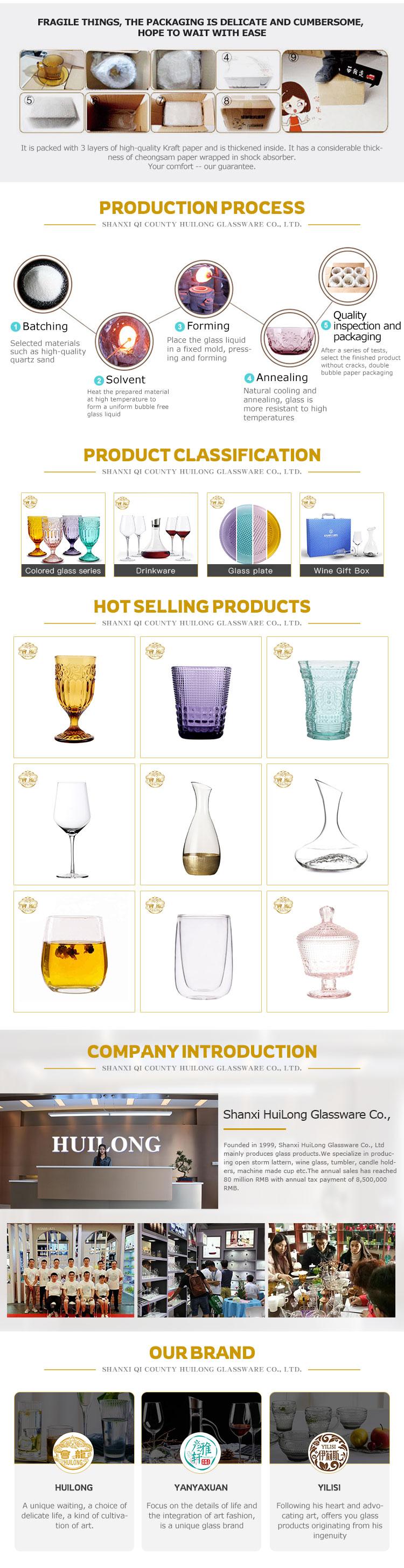 Huilong Incassable Fait Main Verre tasse à boire fabricant en gros