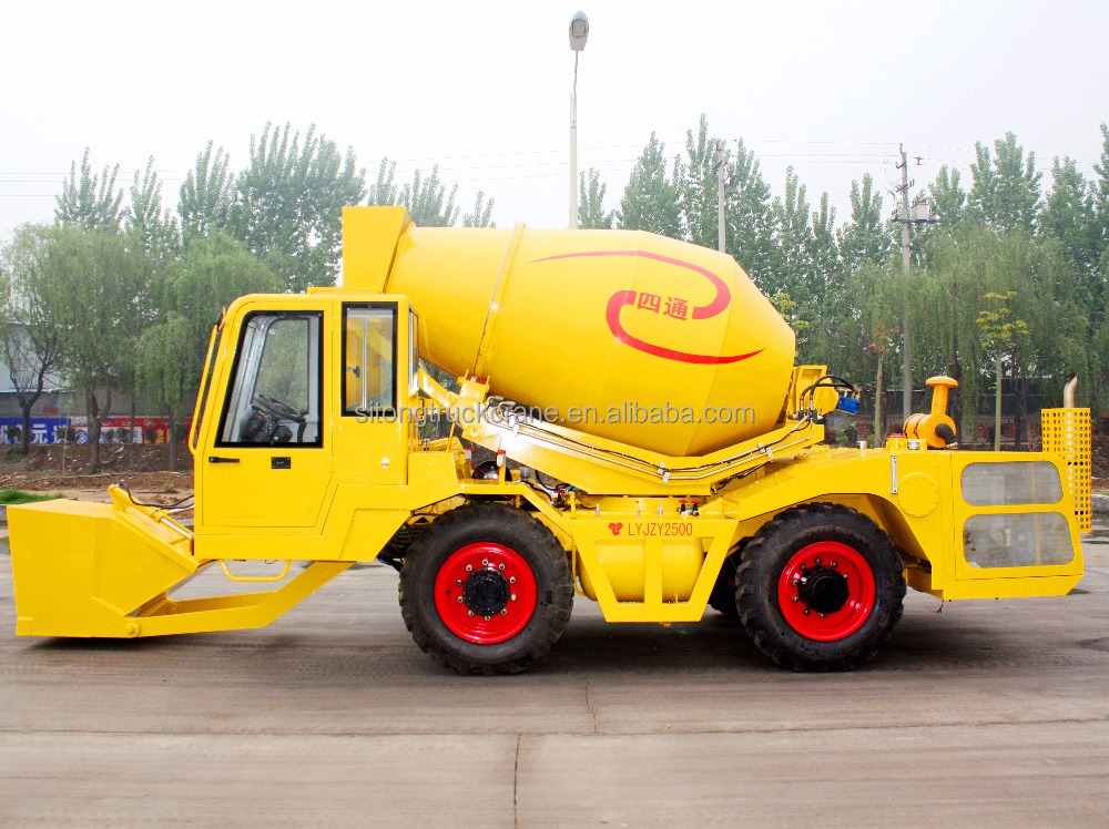 Loader Mixing Mini Portabl Cement Drum Feed Mixer
