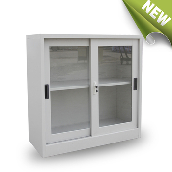 Small Sliding Glass Door White Floor Tool Storage Cabinet Buy