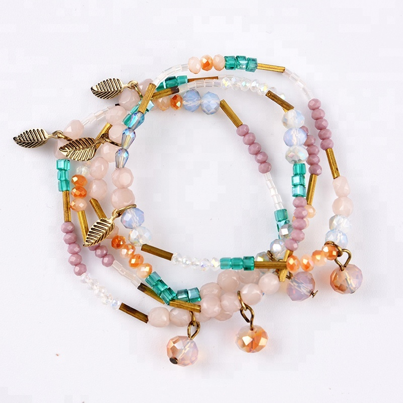 MGB Seed Beads Bohemian Multilayer Braided Bracelet