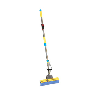 Telescopic PVA Mop Professional Double Roller Sponge cleaning MOP
