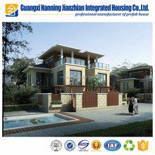 Two story prefabricated villa with three bedrooms